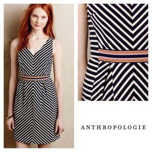 Anthropologie Maeve Mitered V Neck Dress 0